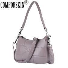 <b>COMFORSKIN</b> Brand 100% <b>Cowhide</b> Geometric Messenger Bag ...