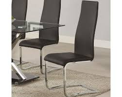 faux leather dining chair black:  coaster modern black faux leather dining chair co blk set of