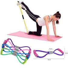 <b>New Gym 8 Word</b> Chest Developer Rubber LOOP Latex Resistance ...
