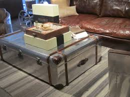 room vintage chest coffee table:  silver trunk coffee table