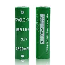 <b>2x</b> ShockLi IMR 18650 <b>3600mAh Battery</b> ($13.99) Coupon Price