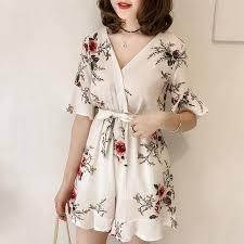 Wholesale <b>Women Summer Jumpsuits Chiffon</b> Floral Printing ...
