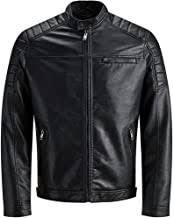 Men's Black Leather Jackets - Amazon.co.uk