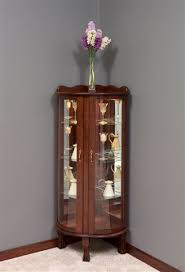 corner cabinets dining room: amish victorian keepsakes corner curio cabinet for antique jpg
