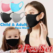 2Pcs/Pair Child <b>Adult Face Mask</b> Flexible Anti-dust Pollution Smoke ...
