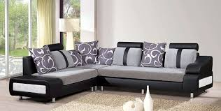 living room sofa ideas: magnificent modern living room furniture sets with sectional black sofa and brown fur rug ideas also