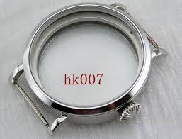 P341 <b>Corgeut 46mm</b> Sterile Polished Watch Case Fit Seagull ST36 ...