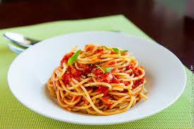 <b>Спагетти</b> с <b>соусом</b> из помидоров