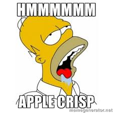 Hmmmmmm Apple crisp - Homer Simpson Drooling | Meme Generator via Relatably.com
