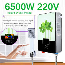 6500W <b>220V</b> Tankless Instant Hot Water Heater <b>Kitchen Electric</b> Hot ...