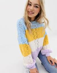 <b>Rainbow Stripe</b> Knit <b>Crop Sweater</b> | 2019 Upcoming Trending Styles ...