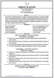 Sample Resume Format for Fresh Graduates  One Page Format       cv