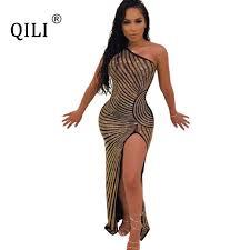 <b>QILI</b> Summer <b>Sexy Split</b> Snake Print Dress Cross Hollow Out ...