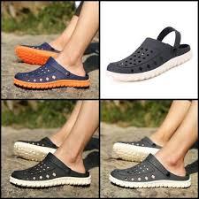 Мужские дышащие пляжные сандалии садовые отверстие обувь ...