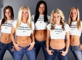 Resultado de imagem para oregon cheerleaders calendar 2014