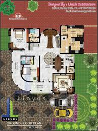 Bedroom Luxurious Bungalow floor plan and D View   Kerala home    Ground floor plan