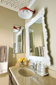 trim bathroom mirror bath