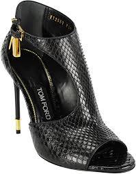 <b>Tom Ford</b> Womens Black Leather <b>Stiletto</b> Heels Size 38 EU (7.5 US ...