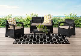 CHARCOAL SAANEN <b>4 Piece Outdoor Lounge</b> Setting   Amart ...