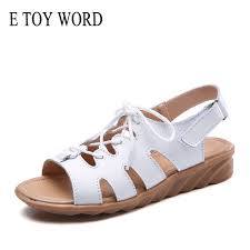 <b>E TOY WORD 2019</b> Summer women sandals fashion leather Lace ...