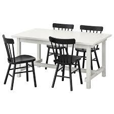 <b>НОРДВИКЕН</b> / НОРРАРИД Стол и 4 стула, белый, черный - <b>IKEA</b>