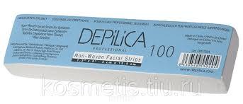 <b>Depilica</b>, <b>Нетканые полоски для</b> эпиляции (для лица) 3x12,5 см ...