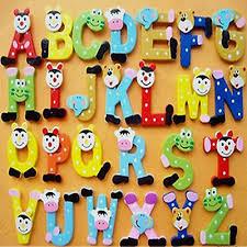 <b>Wooden Cartoon</b> Alphabet Fridge Whiteboards Magnet Educational ...