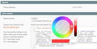 color picker change color scheme theme