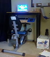 diy exercise bicycle workstation bike office chair