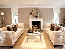 beige white themed living room design