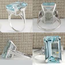<b>Womens Ring</b> Big Blue Aquamarine <b>Jewelry Gem Rings</b> Wedding ...