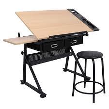 Zeny Height Adjustable <b>Drafting</b> Draft Desk <b>Drawing</b> Table Desk ...