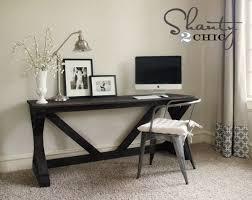 ana white 55 fancy x desk diy projects build rustic office desk