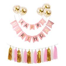 Balloon Bronzing Happy <b>Birthday Letters</b> Flag Banner Pink Other ...