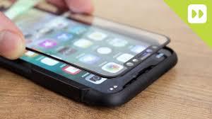Olixar iPhone X EasyFit <b>Full Cover Glass Screen</b> Protector ...