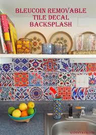 spanish tiles stickers decals kitchen backsplash
