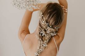 The Prettiest Wedding Hairstyles with <b>Flowers</b> | Green Wedding Shoes