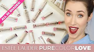 <b>ESTEE LAUDER PURE COLOR</b> LOVE LIPSTICK SWATCHES | ALL ...