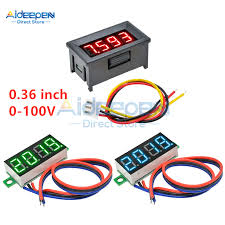 DC 0-30V Two Wire Precision <b>RED Mini</b> LED Digital Voltmeter 0.36 ...