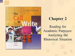 call to write third edition chapter two reading for academic  chapter  reading for academic purposes analyzing the rhetorical situation