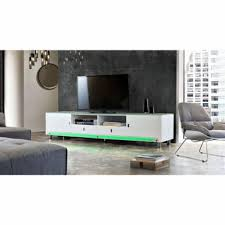 TV Cabinet with LED Accent Lights - Contemporary Galleries