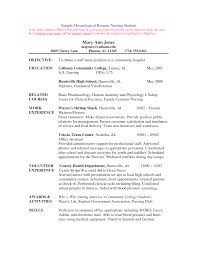 nursing student sample resume sample resume  resume templates