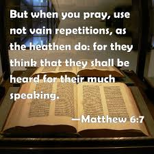 Image result for matthew 6:7