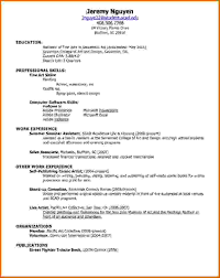 a simple resume doc tk a simple resume