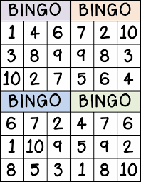 bingo for numbers great for preschool number identification bingo for numbers 1 10 great for preschool number identification