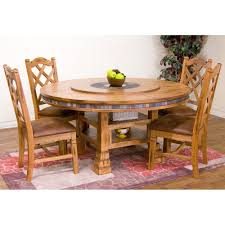 chair dining room tables rustic chairs: sedona wood round dining table amp chairs in rustic oak by sunny designs