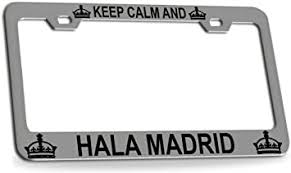 <b>KEEP CALM AND HALA</b> MADRID Chrome Metal License Plate ...