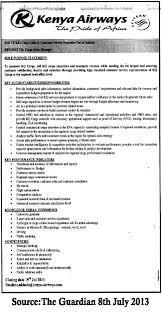 cargo s customer service executive tayoa employment portal job description