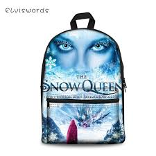 <b>ELVISWORDS</b> Snow Queen's Prints Pattern <b>Kids School</b> Backpack ...