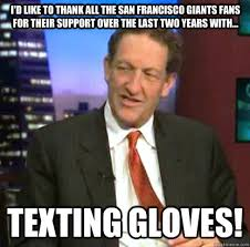 I'd like to thank all the San Francisco Giants Fans for their ... via Relatably.com